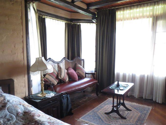 豪華な山小屋風の客室