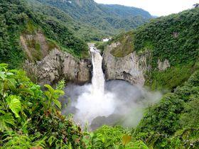 世界百名瀑!エクアドル最大「サンラファエルの滝」が圧巻