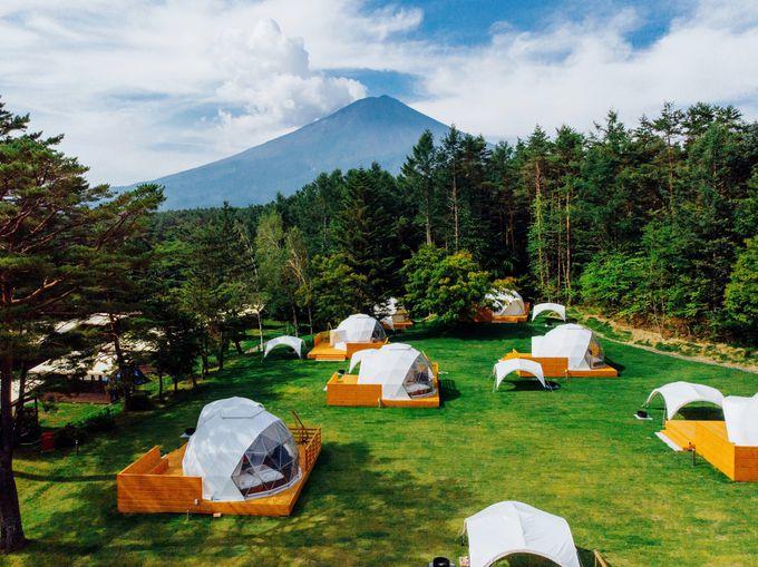 富士山麓「PICA Fujiyama」のアメージングドームで極上のキャンプを