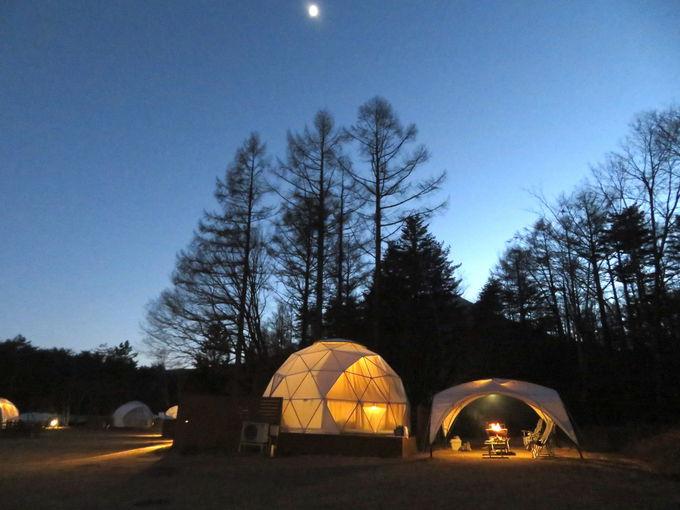 ドームキャンプのお楽しみ