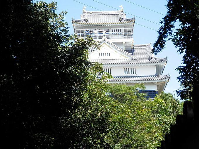 どの登山ルートでも頂上には岐阜城が