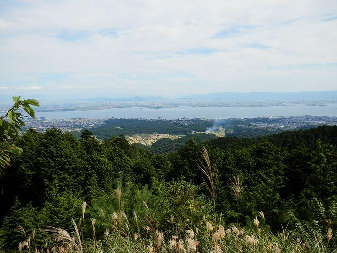 比叡山から望む琵琶湖が心落ち着きます