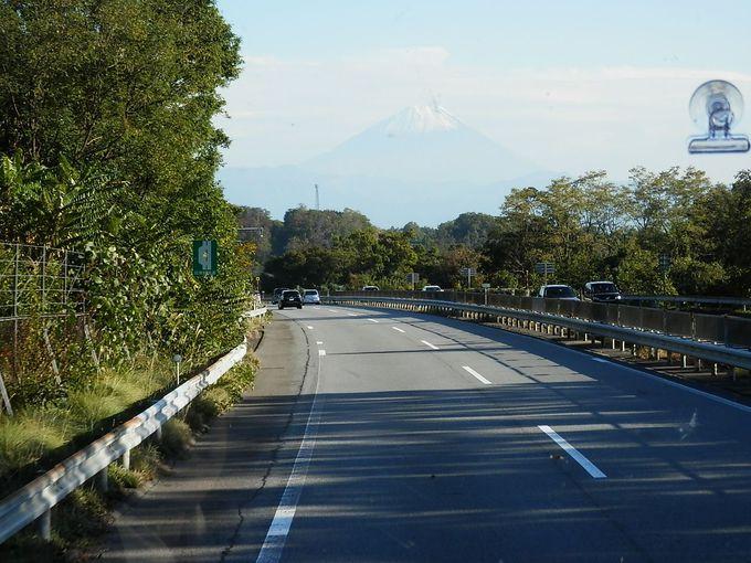 高速から富士山が見えてきて心はずむ