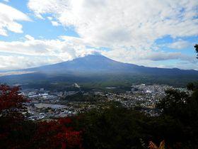 山梨側もやはり美しい!河口湖と富士とのコントラストが素敵