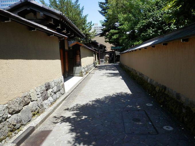 黄色の土壁は歴史の証人、長町武家屋敷