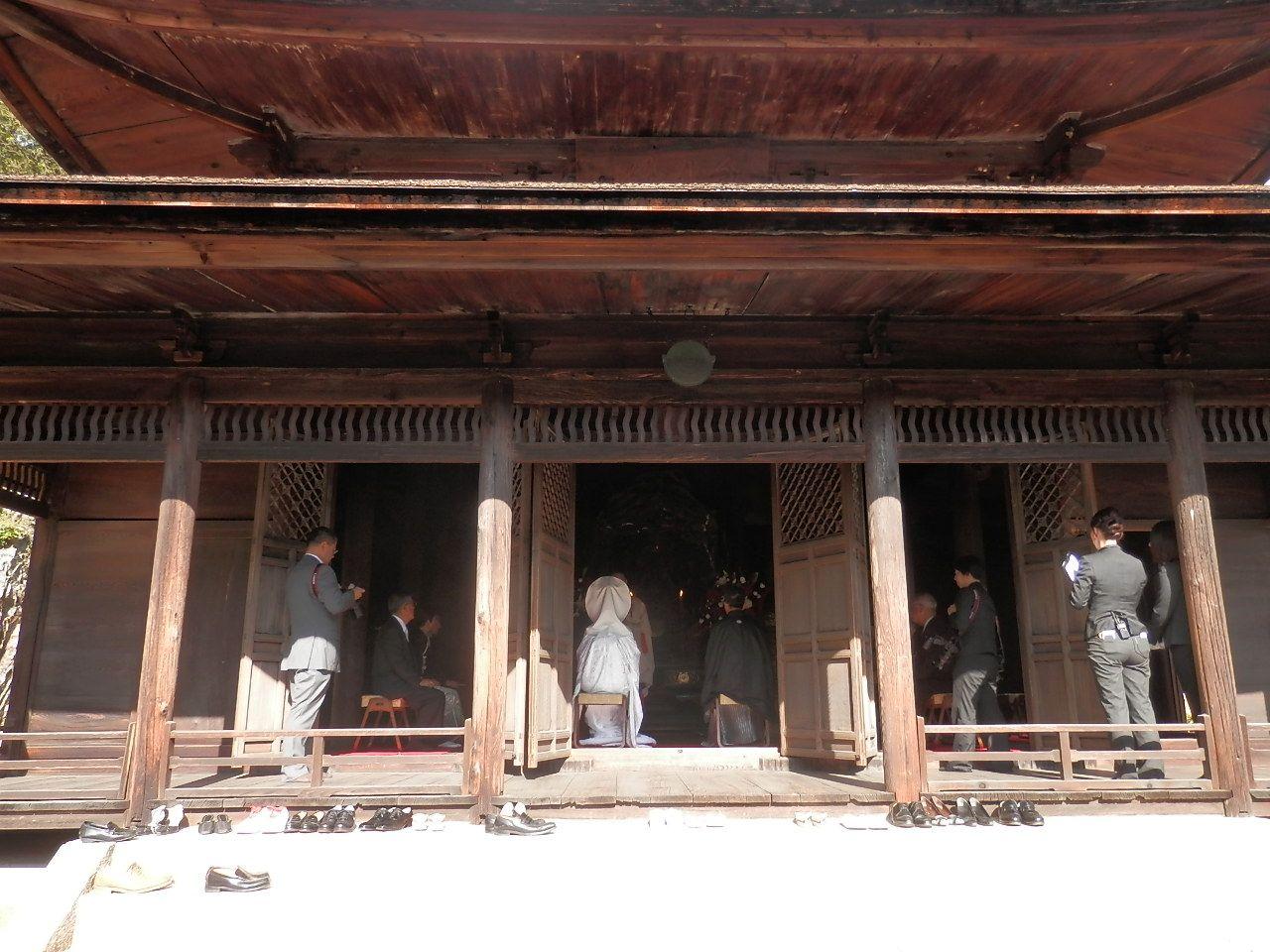 観音堂では、禅式の結婚式も行われる