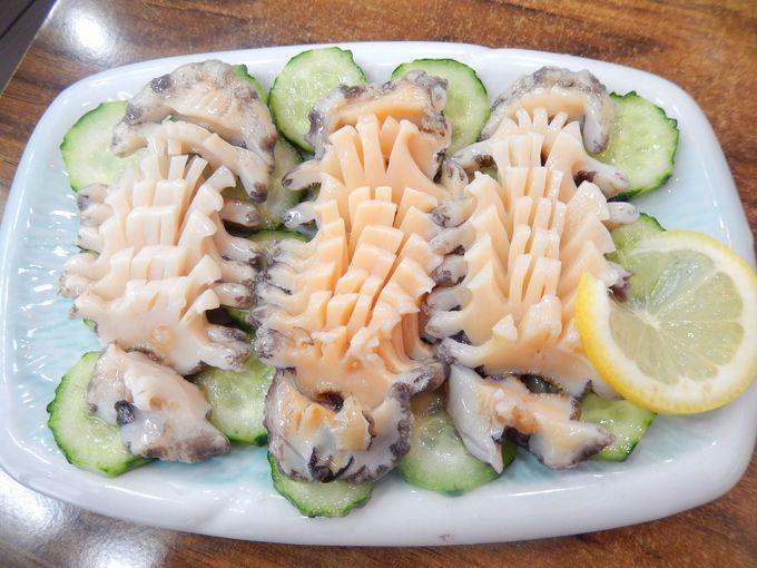 【その3】『済州家』でコリコリのアワビを食す!