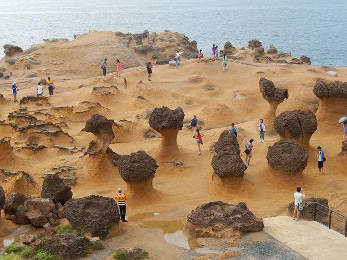 奇岩のオンパレード
