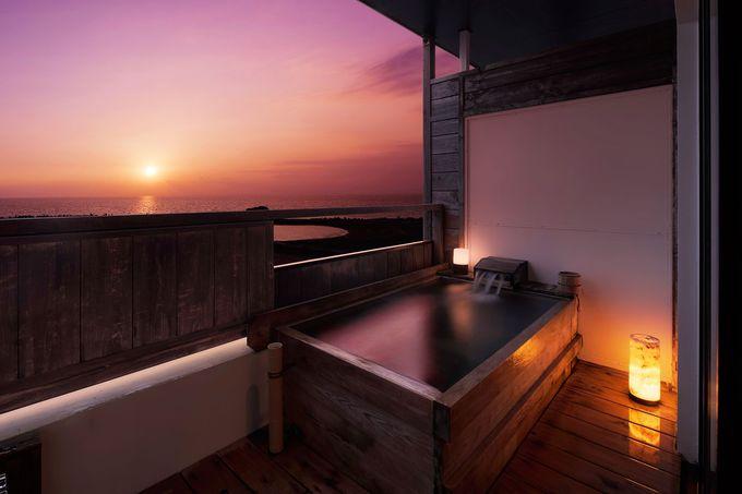 粋なムード漂う客室と絶景風呂