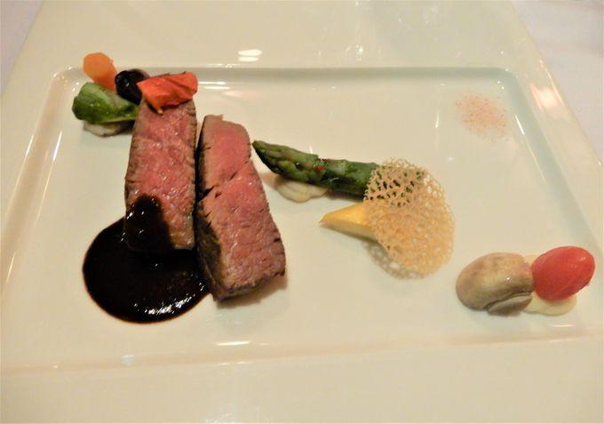 地元産の食材を使ったフランス料理