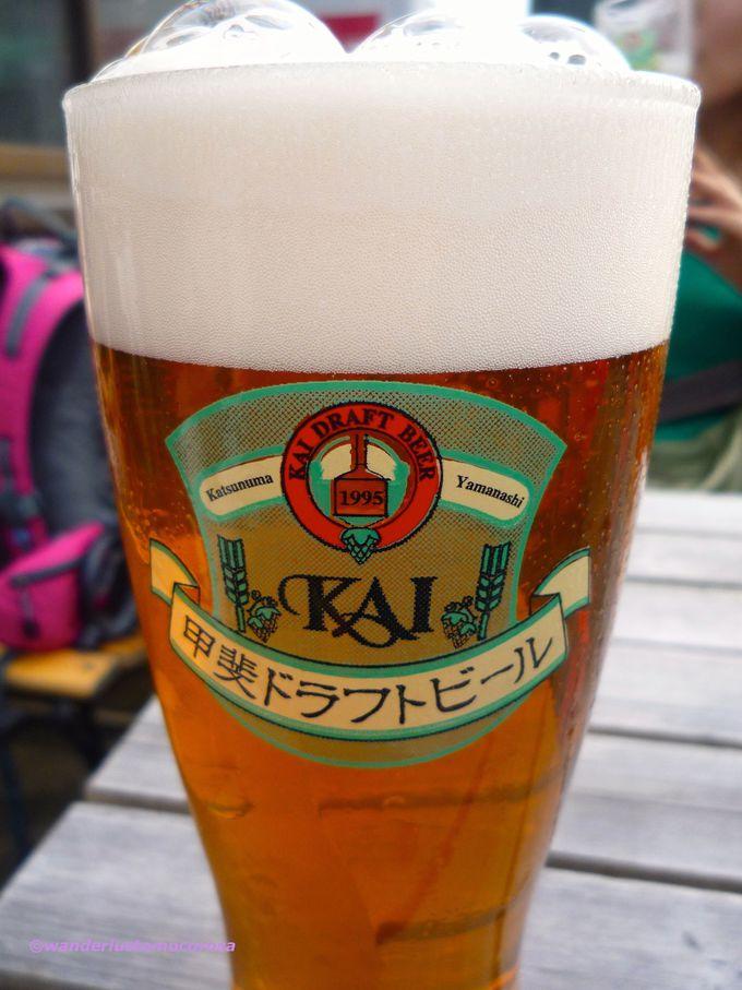 ミネラルたっぷりワイン、そしてビール好きにはたまらない地ビールも醸造する『大和葡萄酒』