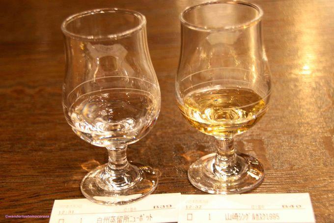 お楽しみはまだまだ、BAR「白州」で更なる飲み比べ!