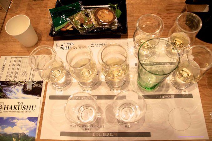 3種類の白州をいろんな飲み方で。ウィスキーとショコラの新しいマリアージュも!
