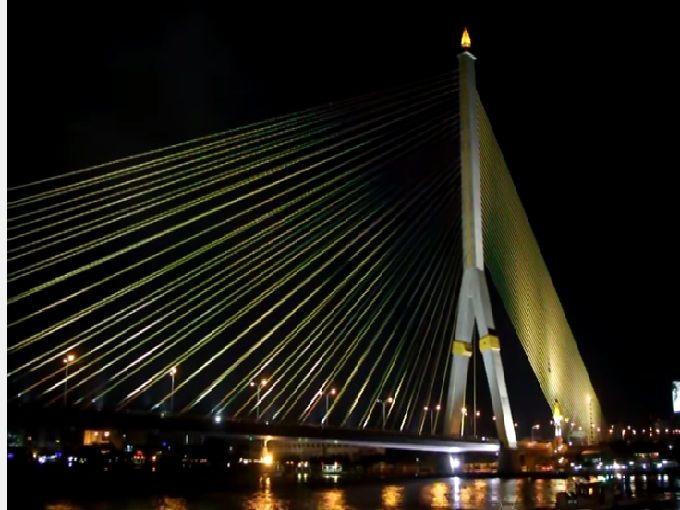 芸術的な橋「ラマ8世橋」