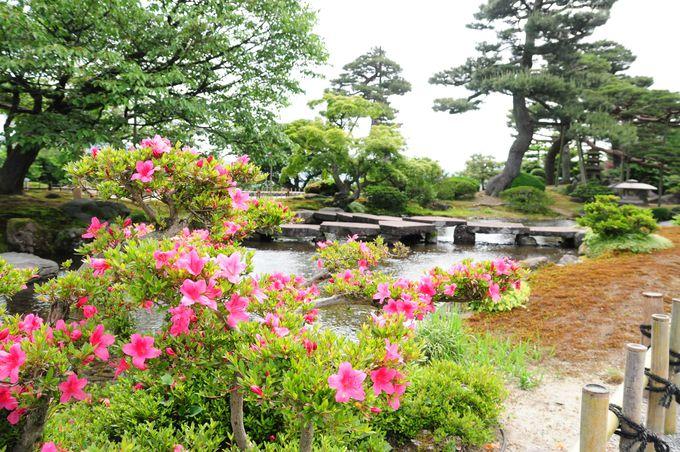 自由に散策の出来る回遊式庭園