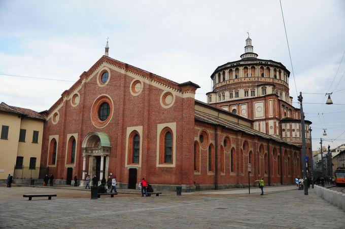 2.サンタ・マリア・デッレ・グラツィエ教会(ミラノ)