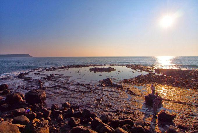引き潮時のみ現れる「蓮花座」は澎湖諸島でも珍しい景観
