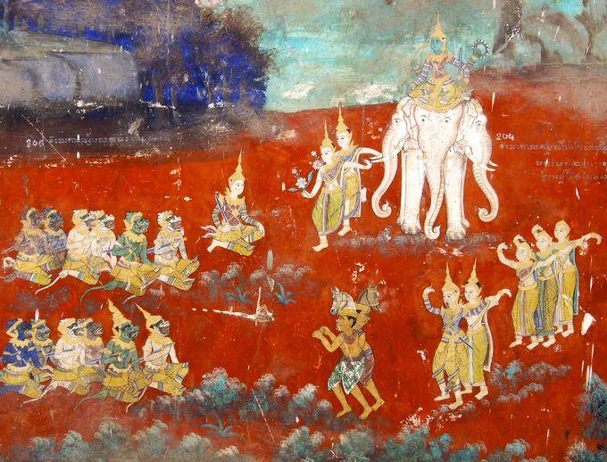 「ラーマーヤナ」の壁画回廊