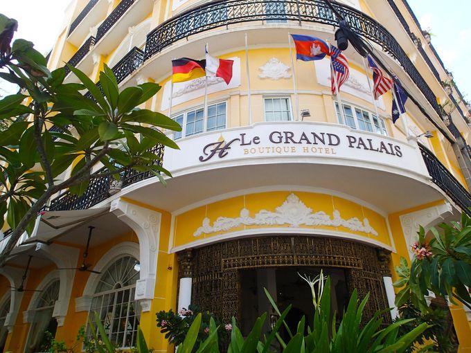 プノンペンの便利な場所に位置する「ル グラン パレ ブティック ホテル」