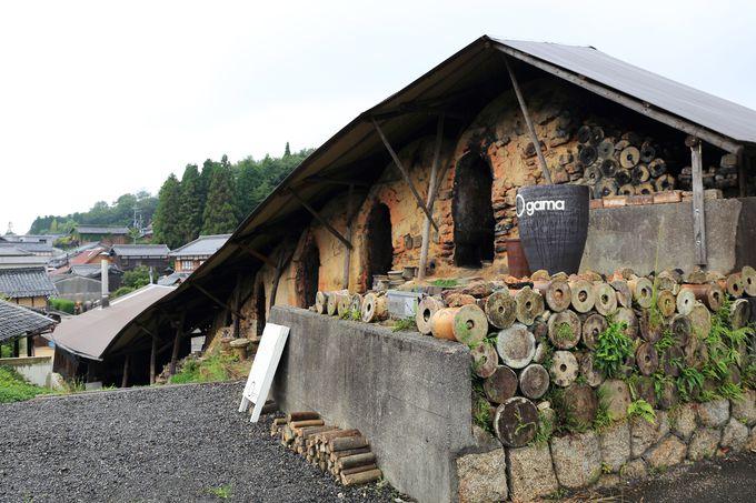 かつて信楽の風物詩であった大きな登り窯が目印の「Ogama」