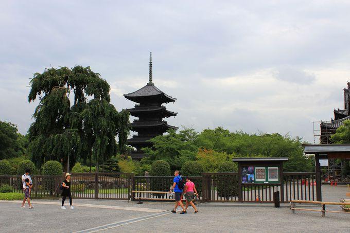 東寺は1200年前の姿が残る唯一の遺構