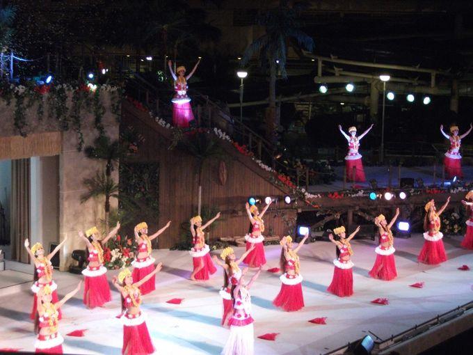 フラガールが総出演で踊るフィナーレ♪「フラガール〜虹を〜」