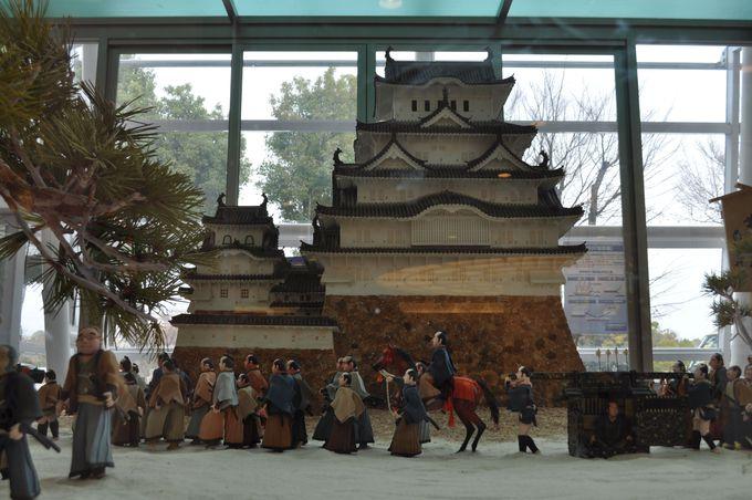 お菓子で出来た姫路城!