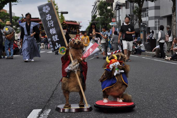 大津祭のアイドル!タヌキ君!