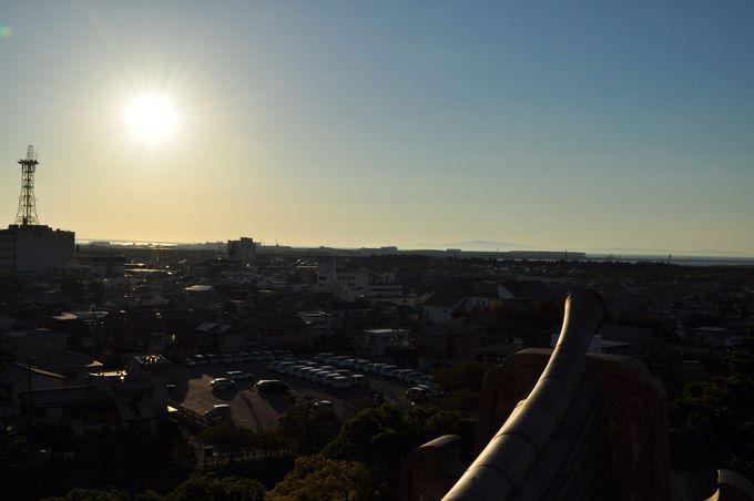 天守閣展望台からの眺めは最高!