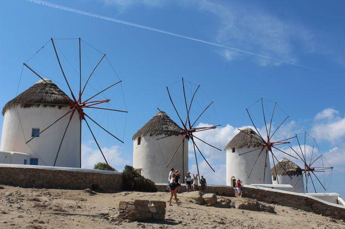 クラシカルな風車はミコノス島のトレードマーク