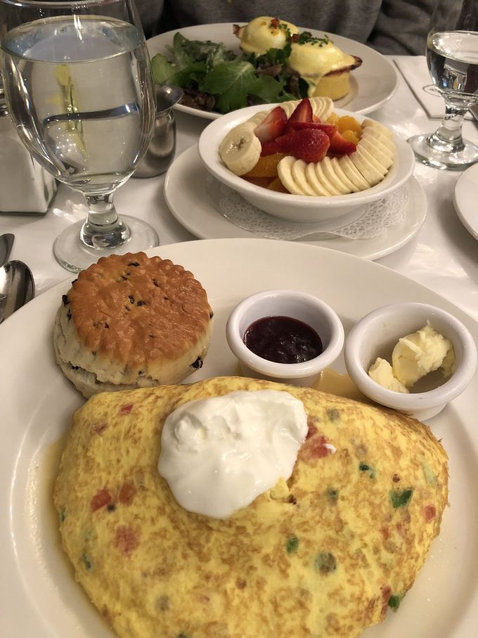 AM8:00 朝食の女王・サラベスの朝食からスタート