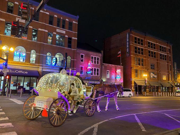 日が暮れてきたら馬車でダウンタウンを観光