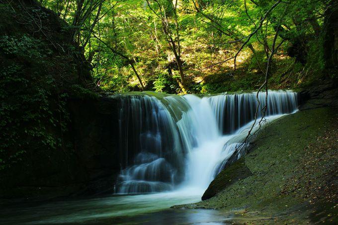 """鳥首川の流れは『一休の滝』で""""ひとやすみ""""して阿武隈川へ!"""