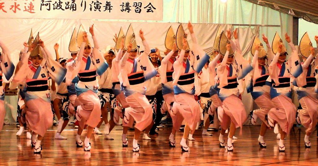 初めての人でもよく解る「阿波踊り」別館・オランジェリーでの講習会!
