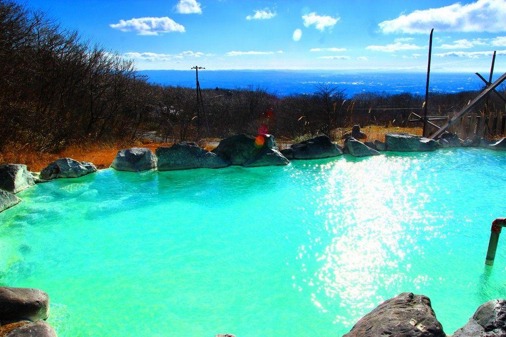 秘湯の露天風呂からは筑波山も眺望出来ちゃう♪