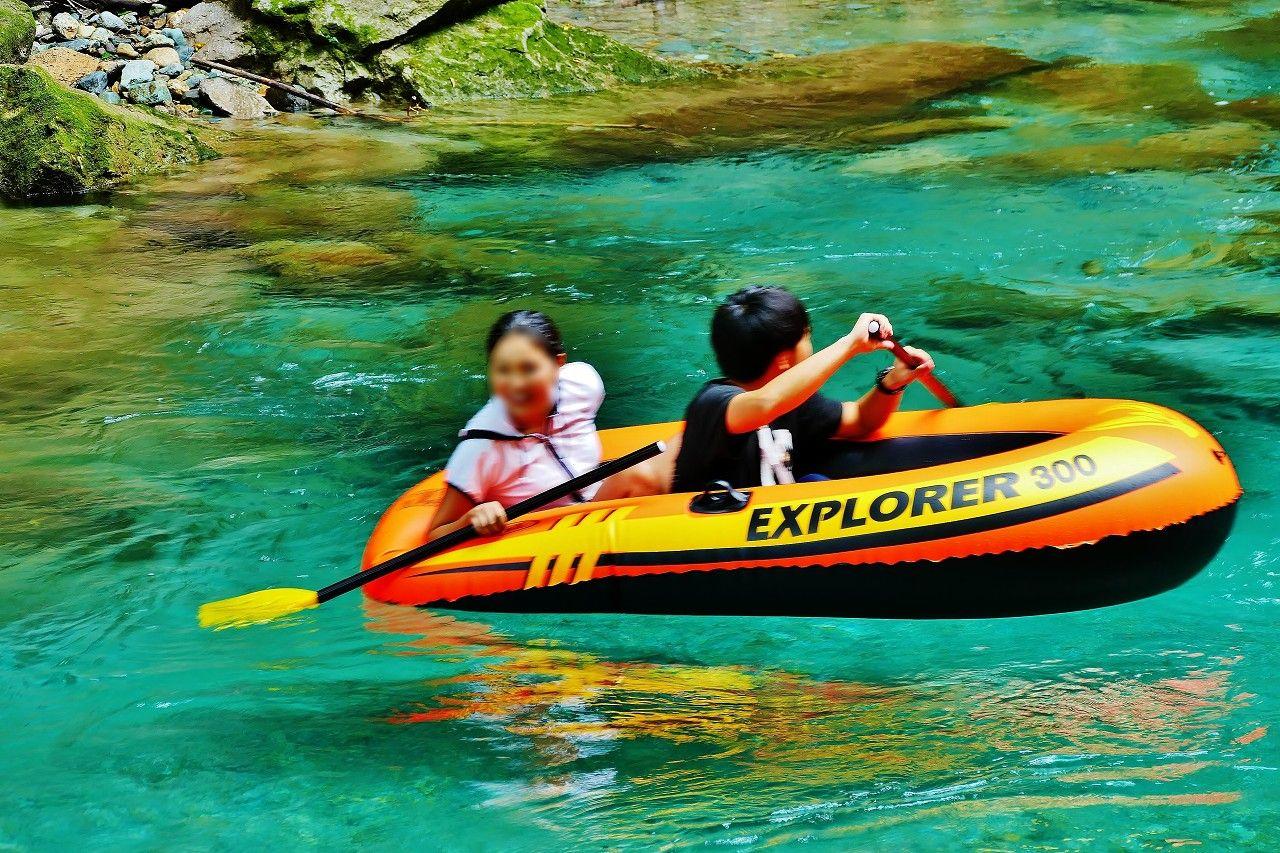 透明度抜群の木俣川は那須高原一番の川遊びのメッカ!