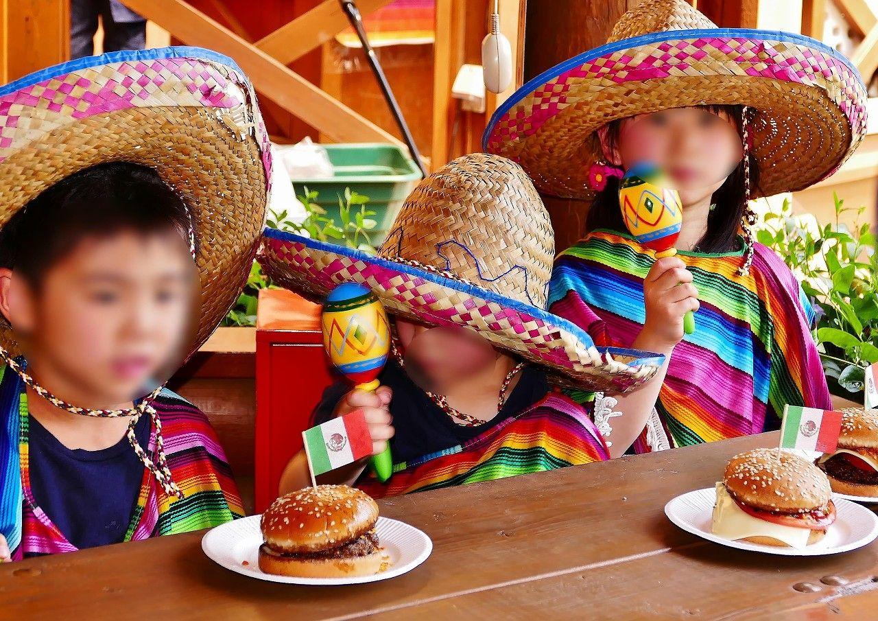 親子でメキシカンハンバーガー作りに挑戦!