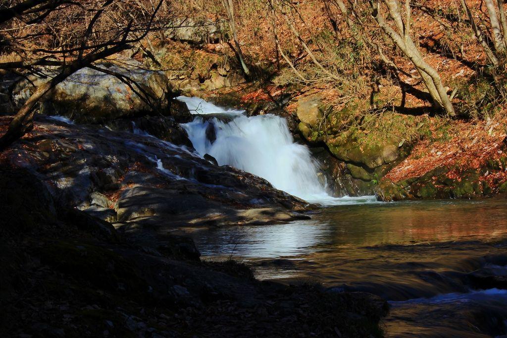 「江竜田の滝遊歩道」最上部にある「青葉の滝」