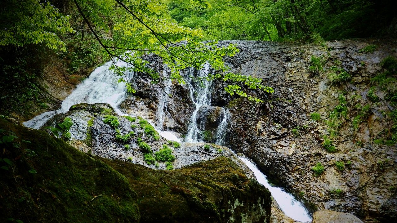 桜沢ルート最初の滝は雷鳴が轟くような「雷霆の滝」