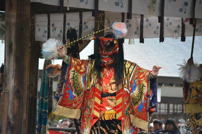 石見神楽の怖い鬼がやってくる!京都・松尾大社「節分祭」