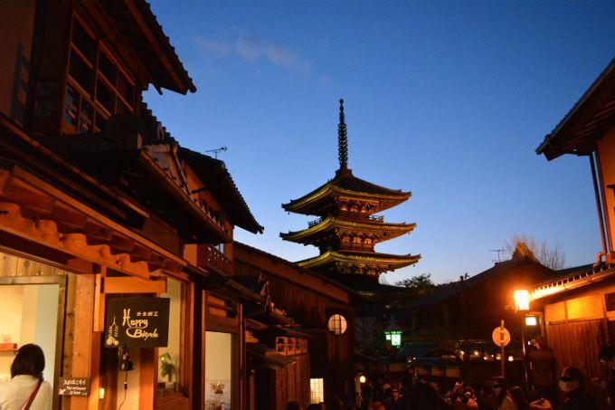 1日目 夜:季節ごとの夜の京都を楽しめるライトアップイベント