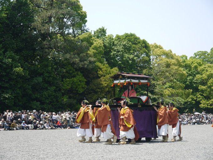 葵祭巡行(衣装が映える斎王代)
