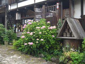 江戸時代から変わらぬ佇まい!木曽馬篭宿はあじさいの季節こそ美しい!