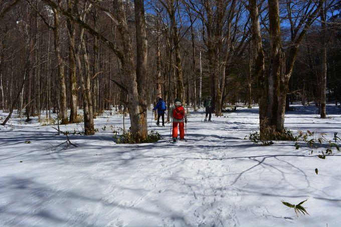 冬の上高地の楽しみ!スノーシュートレッキング