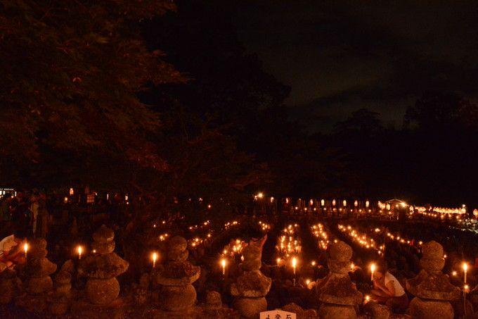 化野念仏寺千灯供養(8月23日、24日)