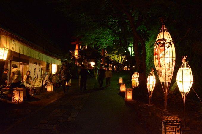 愛宕古道街道灯し(一の鳥居近く)