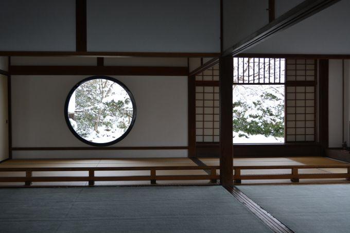 冬:雪景色で心が安らぐ源光庵
