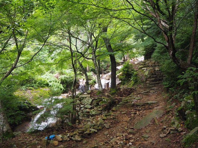 ハイキングコース入口から「雌滝」の行き方