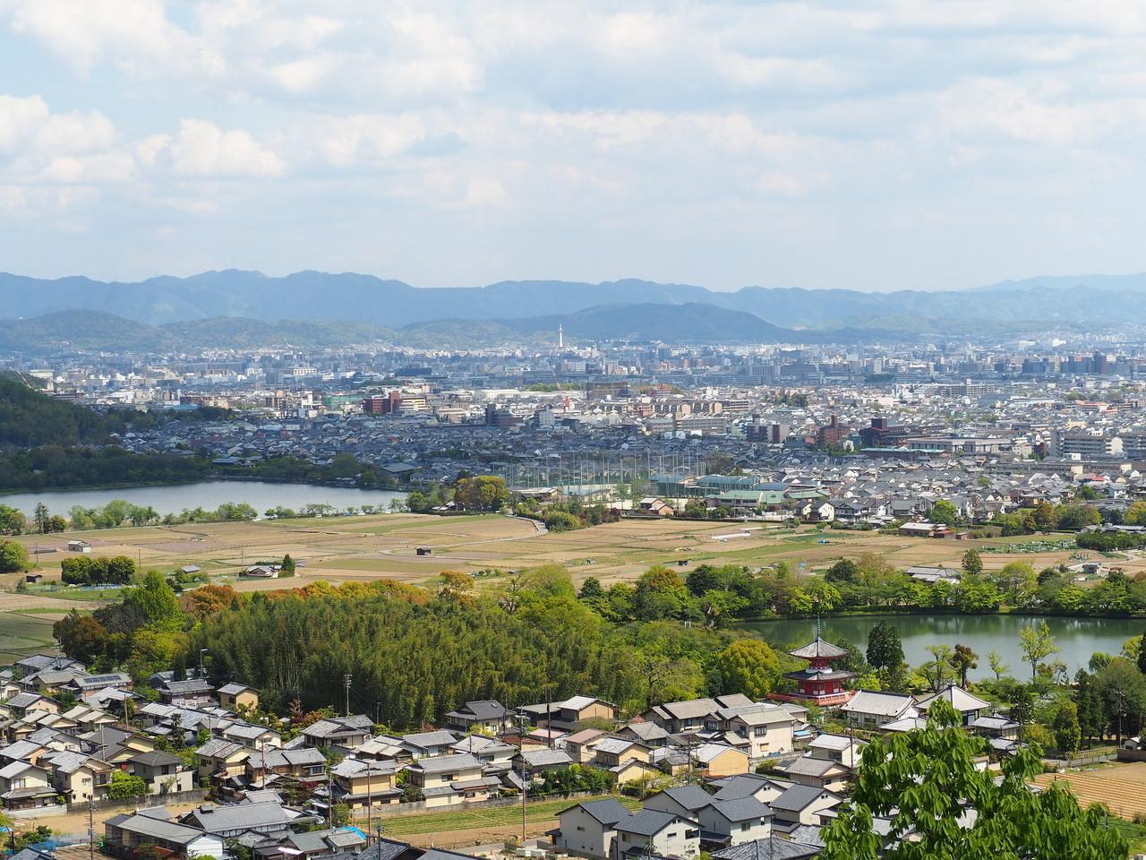 嵯峨野一望の長尾山