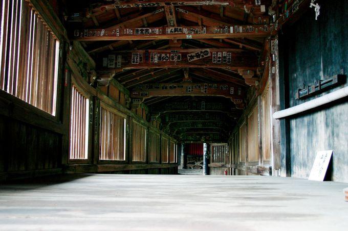 秀吉の御座船を再利用?不思議な舟廊下。